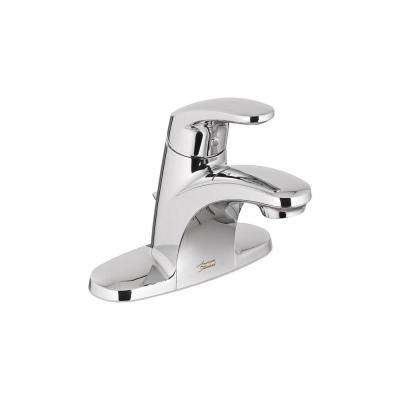 Colony Pro 4 in. Centerset Single-Handle Low-Arc Bathroom Faucet with Pop-Up Drain in Polished Chrome