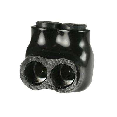 14 - 2 AWG Multi Tap Connector Insulated Single Side Entry 2 Ports, Black
