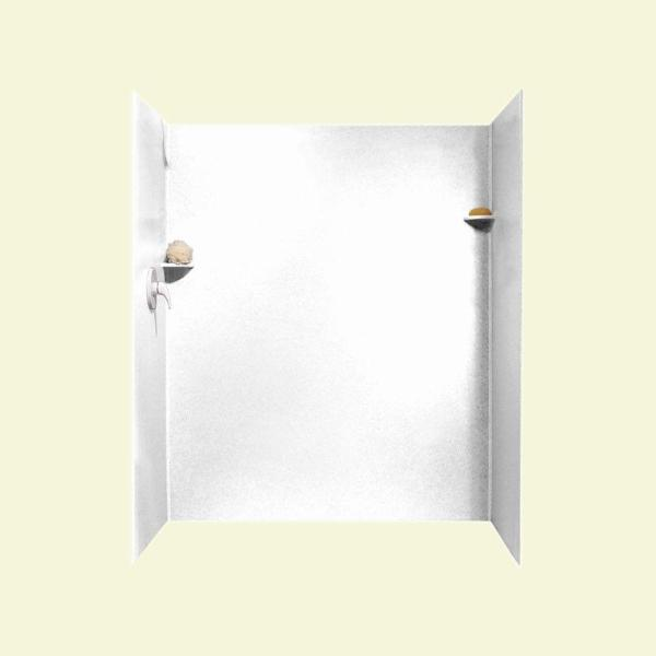 Swan 36 in x 62 in x 72 in 3 piece solid surface subway - Home depot exterior doors 36 x 80 ...