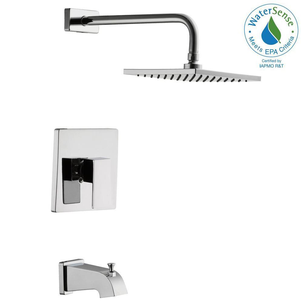 Glacier Bay Marx Single Handle 1 Spray Tub And Shower Faucet In