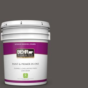 Behr Premium Plus 5 Gal Home Decorators Collection Hdc Cl 24g Equestrian Leather Eggshell Enamel Low Odor Interior Paint Primer In One 230005 The Home Depot