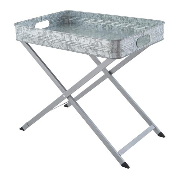Oasis Folding Tray Stand Galvanized