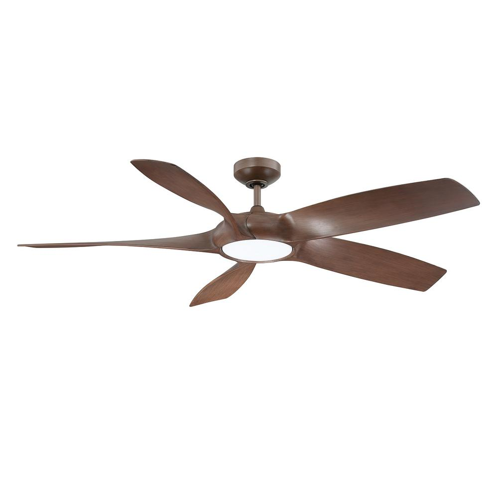 Designer's Choice Collection Blade Runner 54 in. LED Russet Chestnut Ceiling Fan with DC Motor