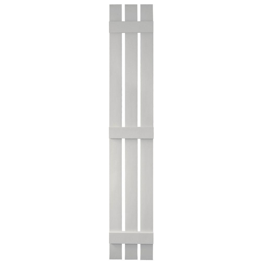 12 in. x 80 in. Board-N-Batten Shutters Pair, 3 Boards Spaced