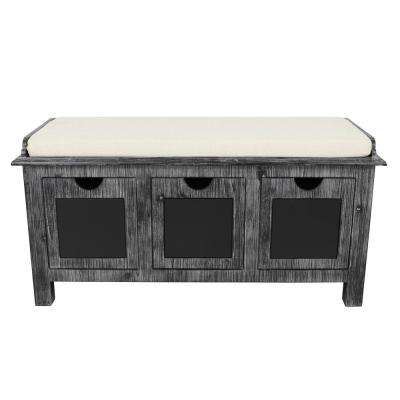 Rowan Gray Chalkboard Storage Bench