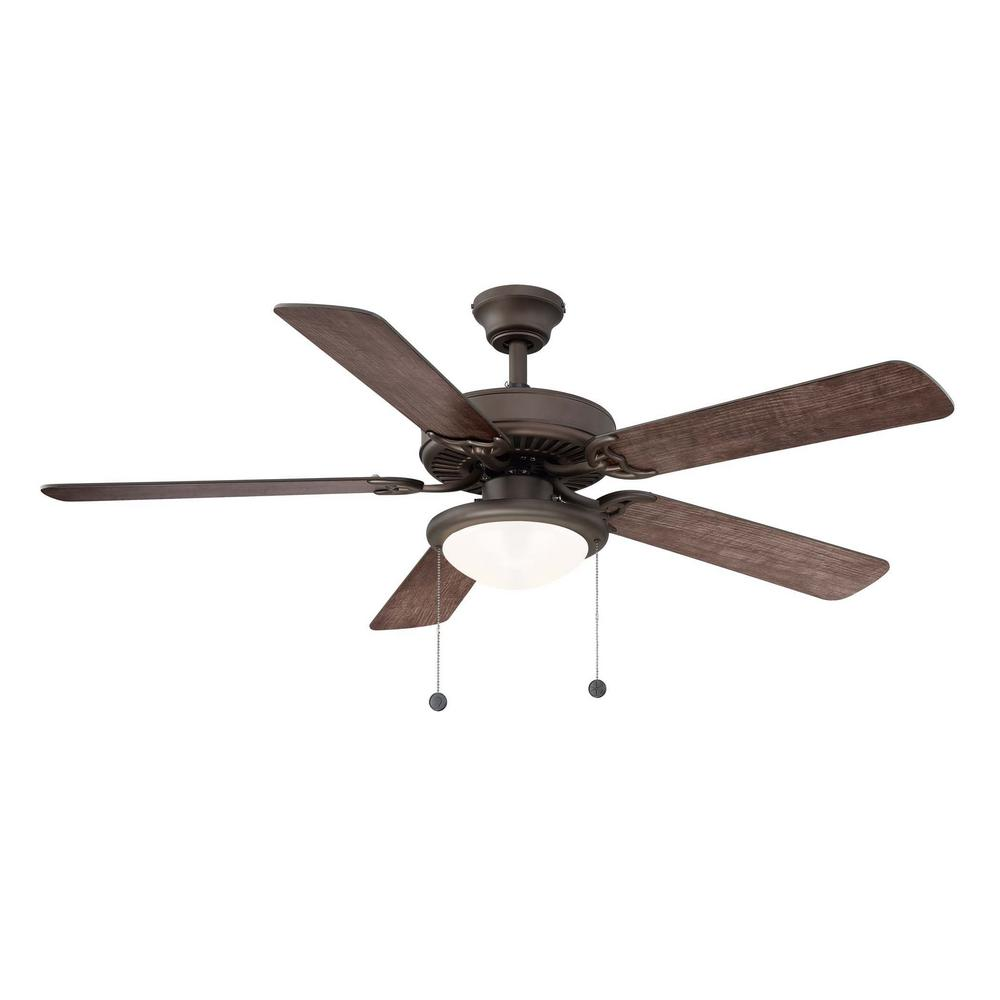 52 Onyx Bengal 4 Light Ceiling Fan With Light Kit: Hunter Haddington 46 In. Indoor Onyx Bengal Bronze Ceiling