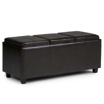 Avalon Tanners Brown Extra Large Storage Ottoman Bench