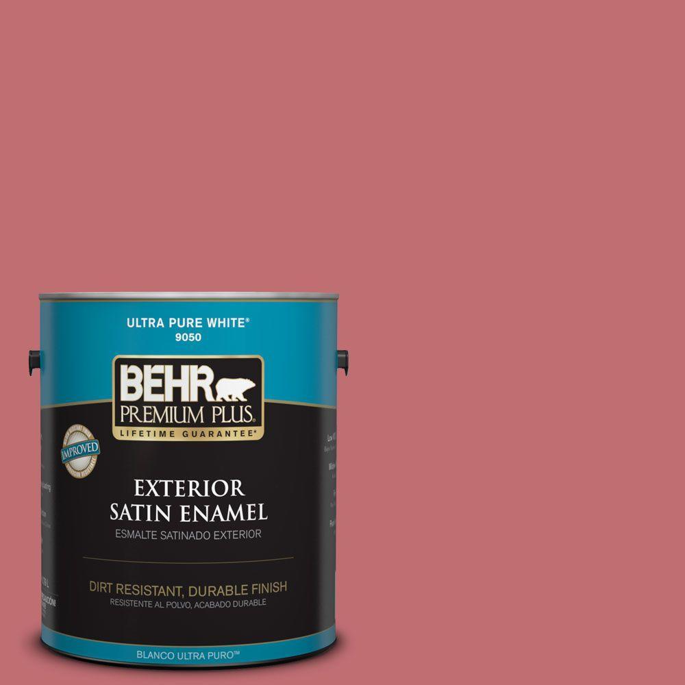 BEHR Premium Plus 1-gal. #HDC-SP14-8 Art House Pink Satin Enamel ...