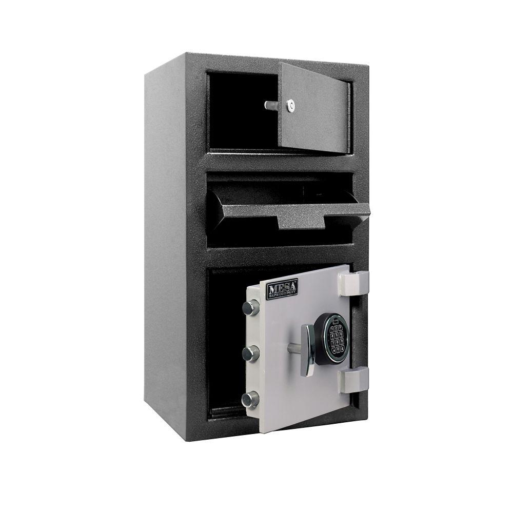 1.5 cu. ft. All Steel Electronic Lock Depository Safe with Outer