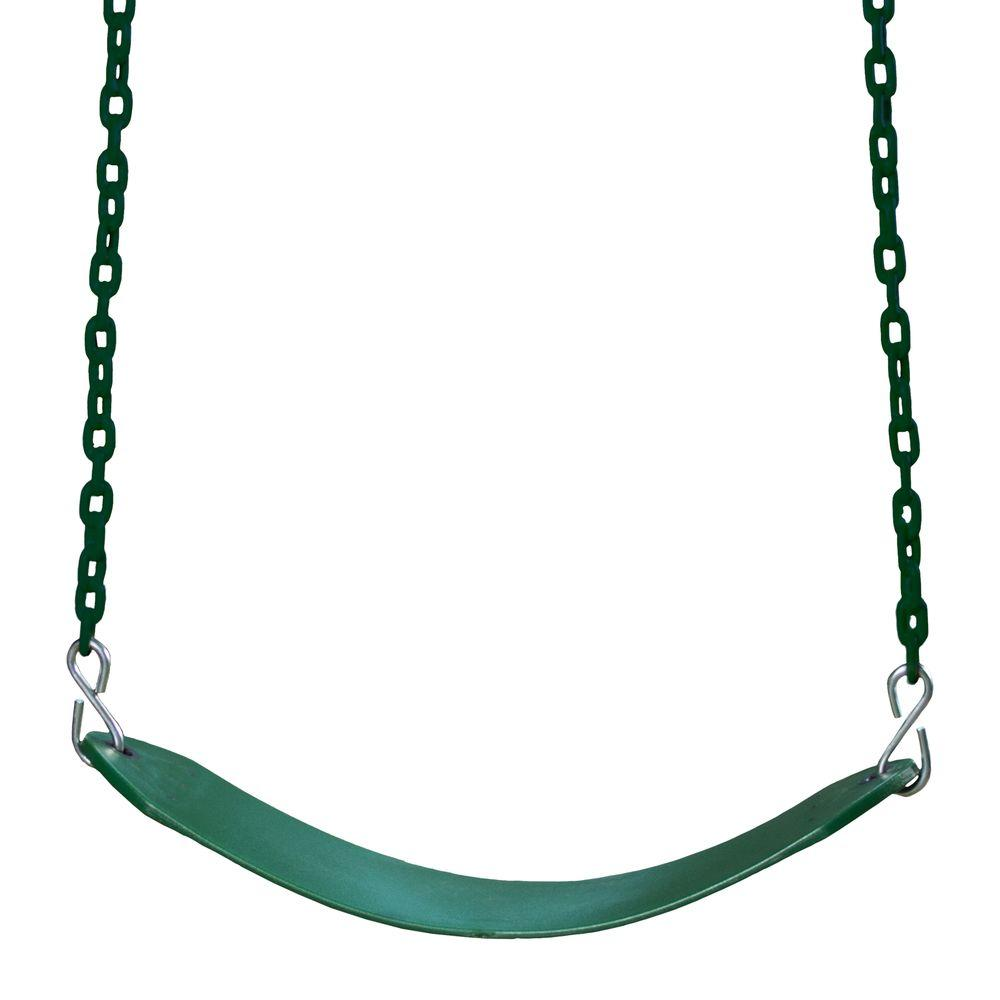 Gorilla Playsets Deluxe Green Swing Belt With Chain