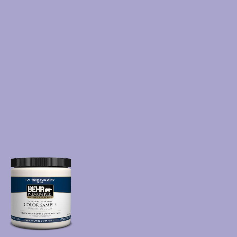 BEHR Premium Plus 8 oz. #PPH-38 Violeta Silvestre Interior/Exterior Paint Sample