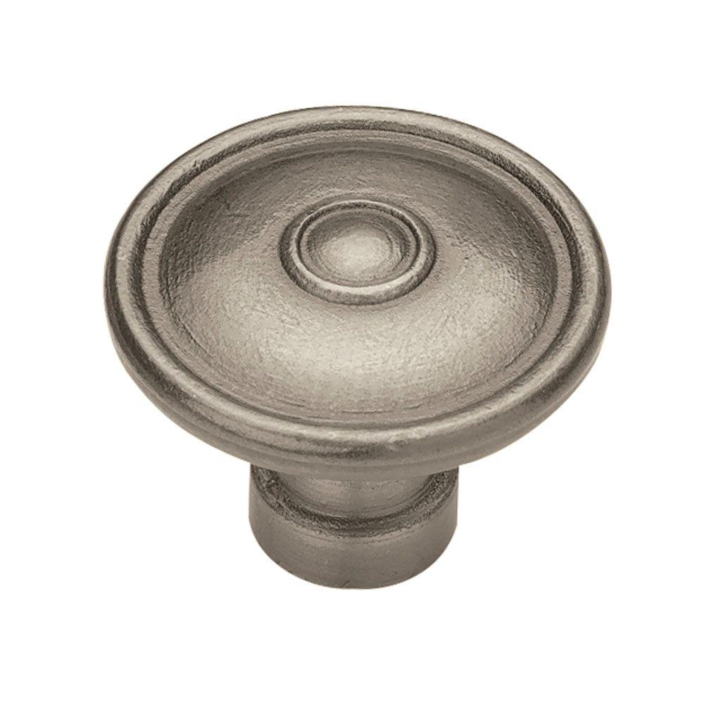 Liberty Rustique 1 1 2 In 38mm Antique Pewter Ringed Cabinet Knob
