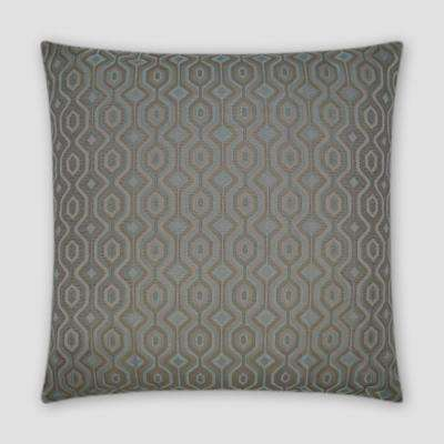 Groovy Blue Feather Down 20 in. x 20 in. Standard Decorative Throw Pillow