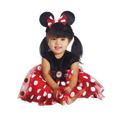 Infant Disney's Red Minnie Mouse Costume