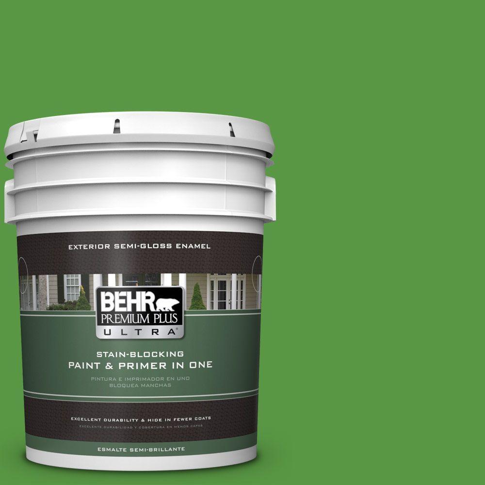 5-gal. #430B-7 Cress Green Semi-Gloss Enamel Exterior Paint