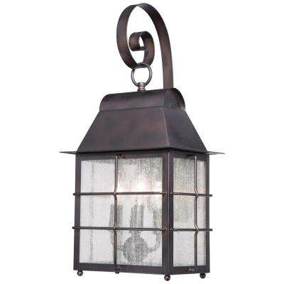 Willow Pointe 4-Light Chelesa Bronze Outdoor Wall Lantern Sconce