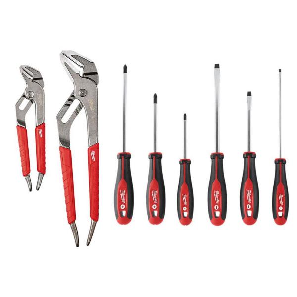 Screwdrivers and Pliers Hand Tool Set (8-Piece)