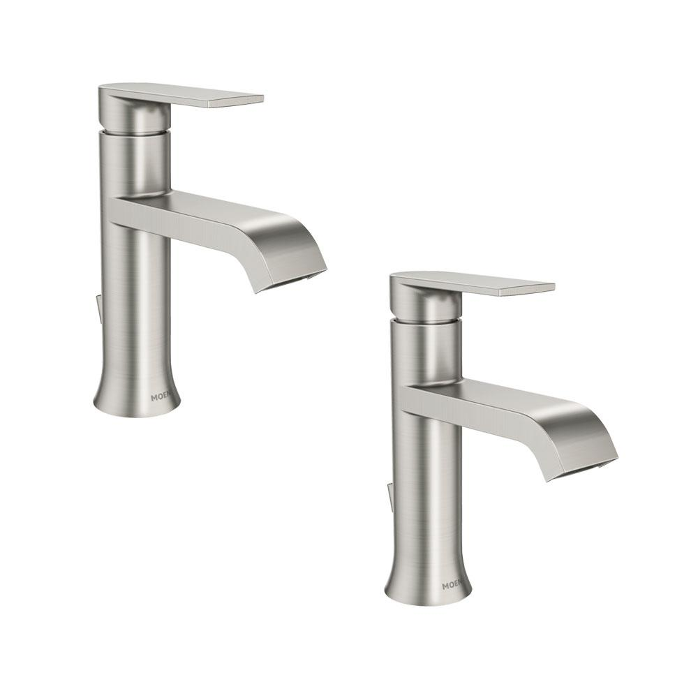 MOEN Genta Single Hole Single-Handle Bathroom Faucet in Spot Resist ...