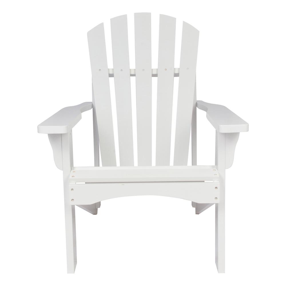 Shine Company Rockport White Cedar Wood Adirondack Chair