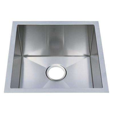 Professional Undermount Stainless Steel 19 in. 0-Hole Single Bowl Kitchen Sink