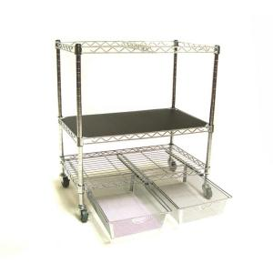 Seville Classics Heavy-Duty File Cart With Storage Drawers by Seville Classics