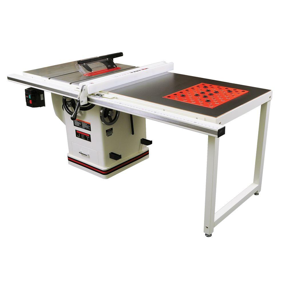 Jet 10 in. 230-Volt Table Saw with 50 in. Fence System and Downdraft Table