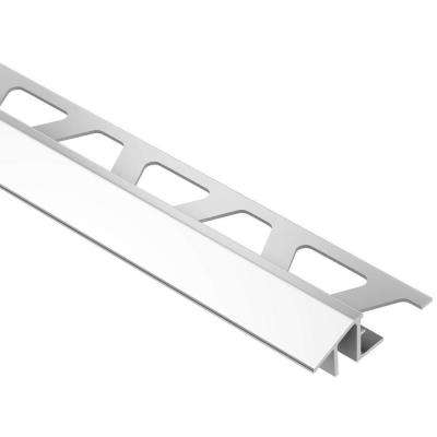Reno-TK Bright Chrome Anodized Aluminum 1/2 in. x 8 ft. 2-1/2 in. Metal Reducer Tile Edging Trim
