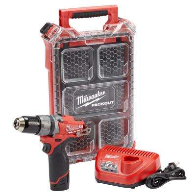 M12 FUEL 12-Volt Cordless Brushless 1/2 in. Hammer Drill Kit With Free PACKOUT Case