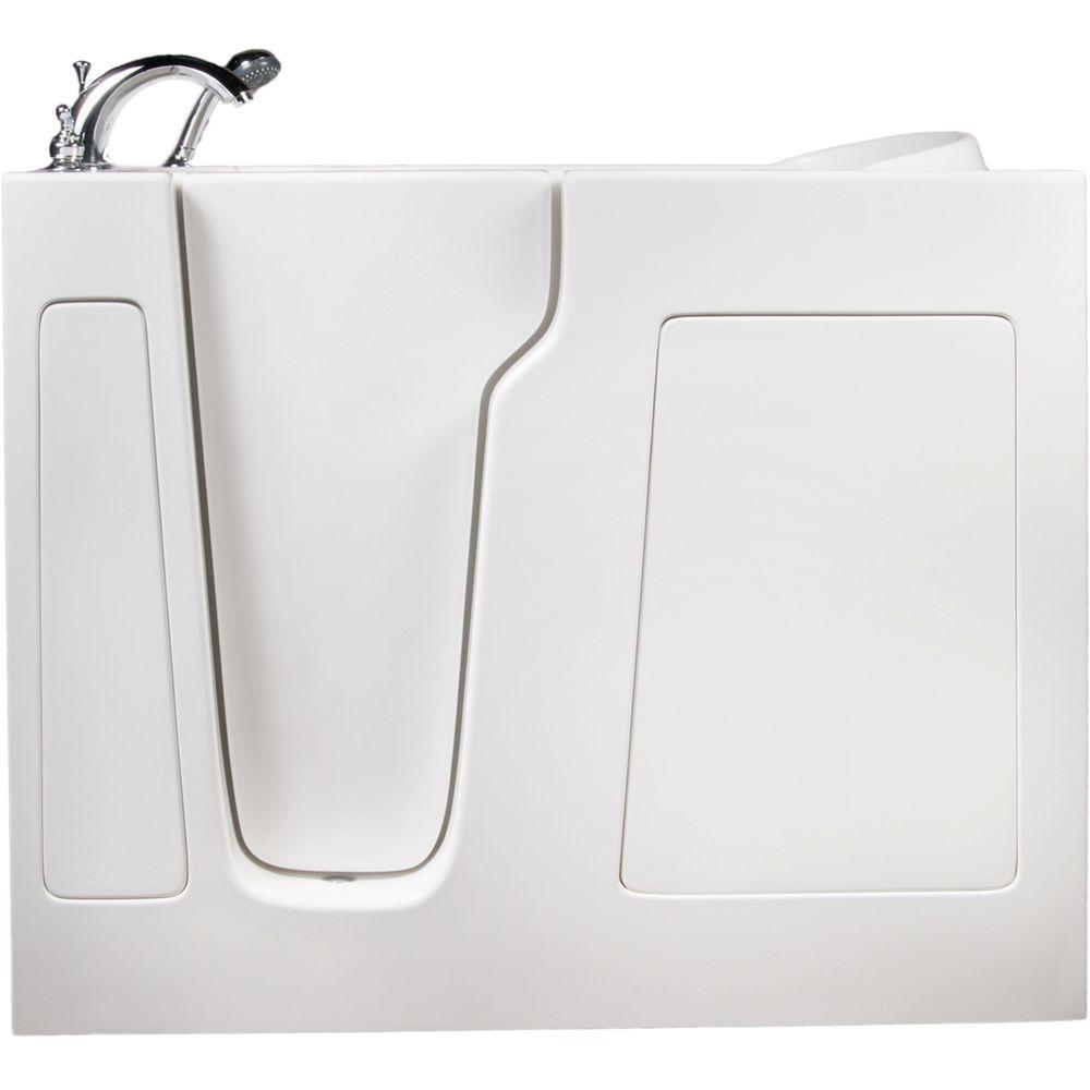 Allure Walk In Tubs 3.83 ft. Left-Drain Walk-In Whirlpool and Air Bath Tub in White