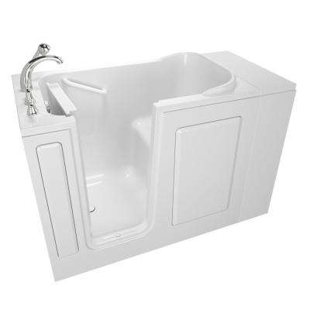 Value Series 48 in. x 28 in. Left Hand Walk-In Soaking Tub in White