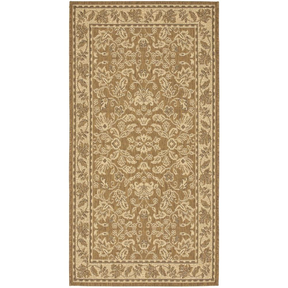 Safavieh Courtyard Gold/Cream 2 ft. 7 in. x 5 ft. Indoor/Outdoor Area Rug