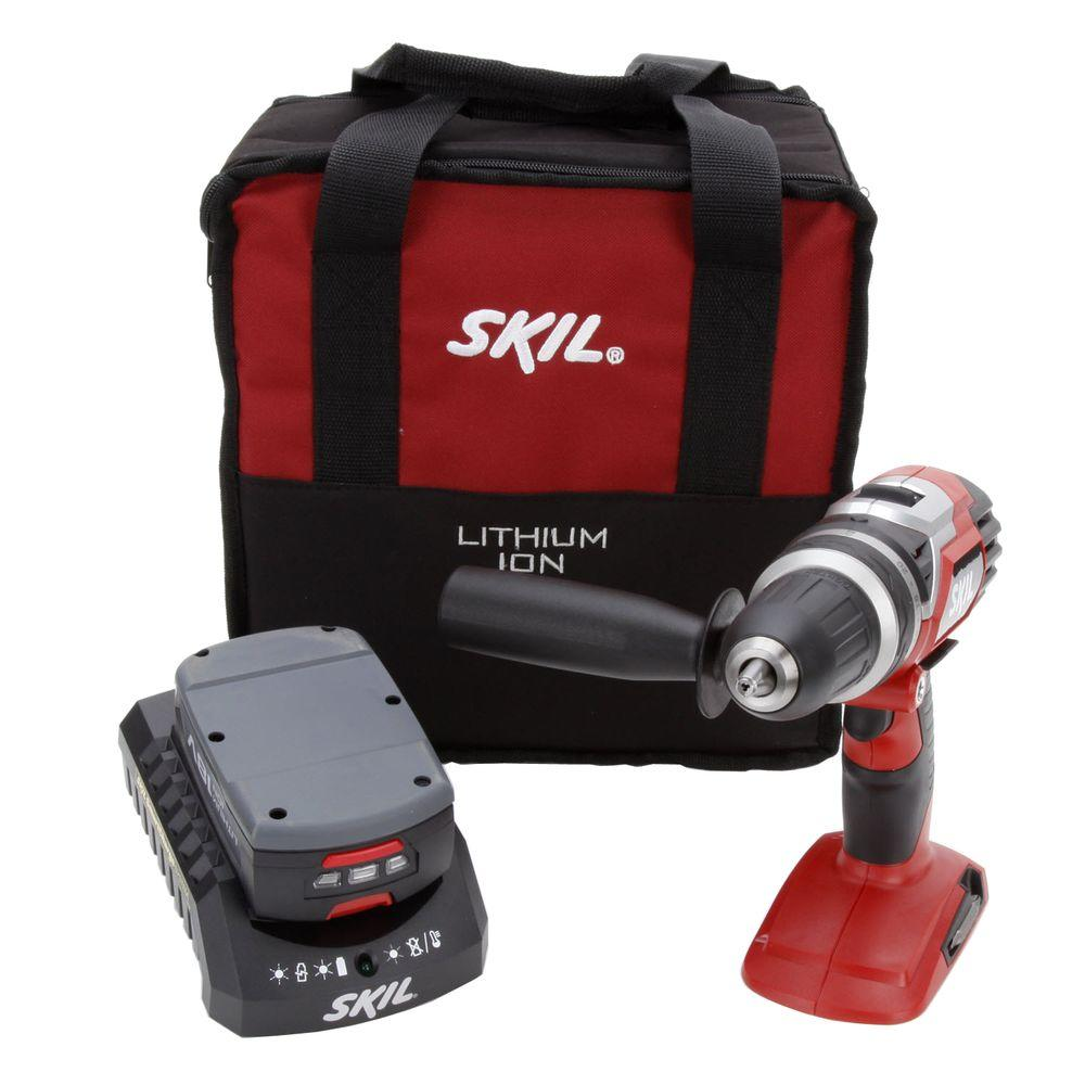 Skil 18 Volt Lithium-Ion Cordless Electric 1/2 in. Variable Speed Drill/Driver