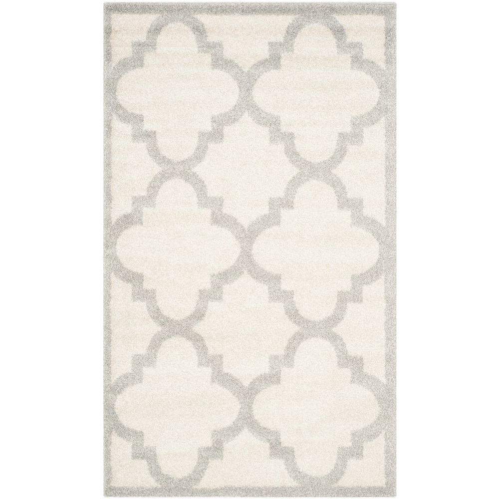Safavieh Amherst Beige/Light Gray 2 ft. 6 in. x 4 ft. Indoor/Outdoor Area Rug
