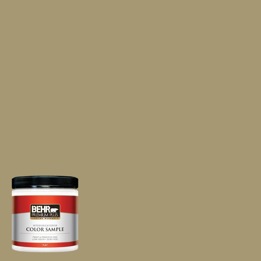 BEHR Premium Plus 8 oz. #S330-5 Dried Chive Interior/Exterior Paint Sample