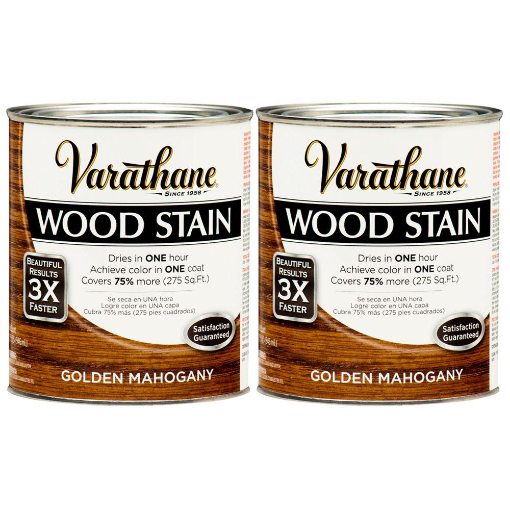 Varathane 1 Qt. Golden Mahogany Wood Stain (2-Pack)-DISCONTINUED