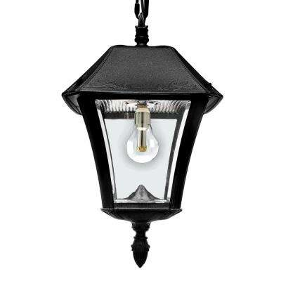 Remote control included outdoor ceiling lighting outdoor baytown ii solar black integrated led hanging light with remote control workwithnaturefo