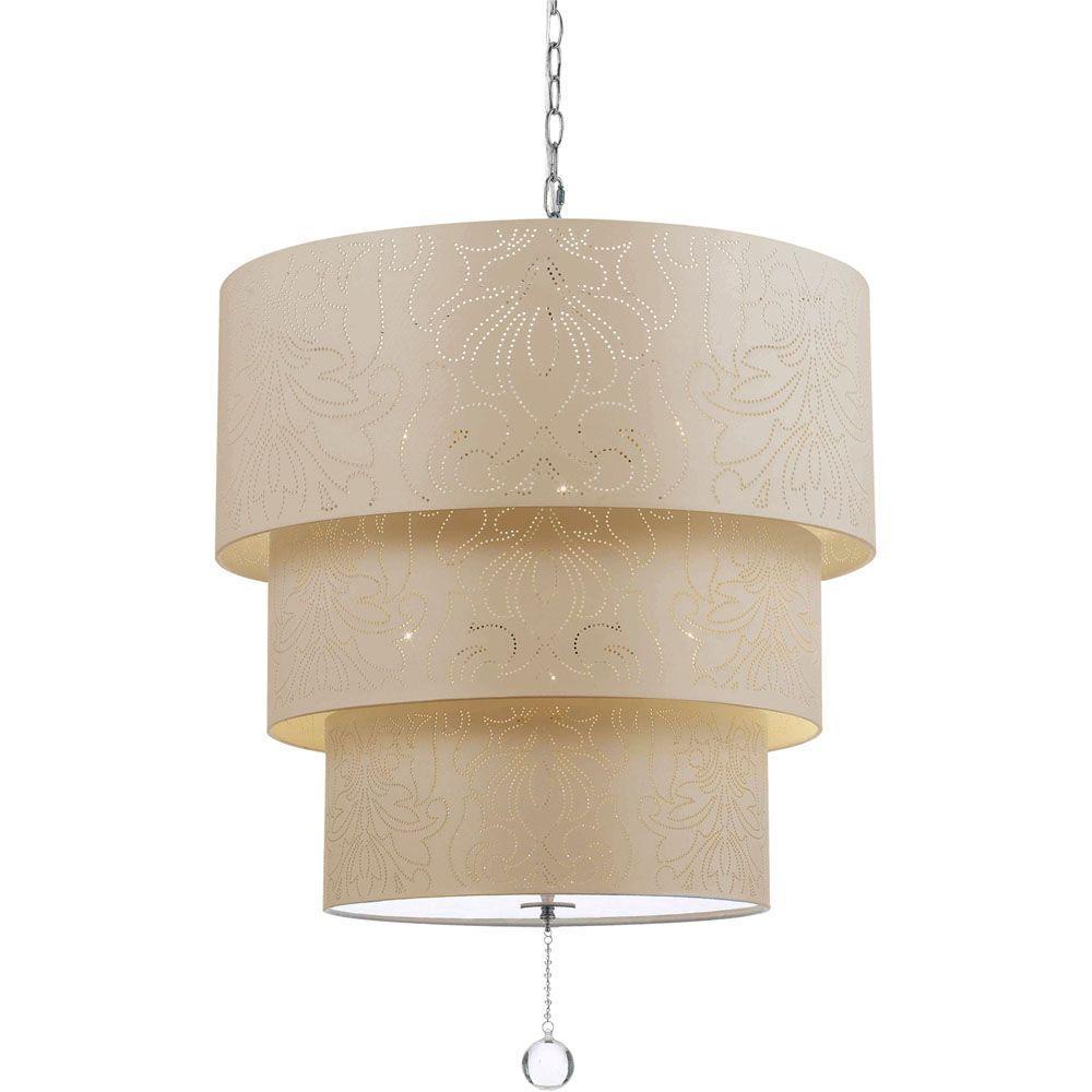 9008 5-Light Cream Pendant