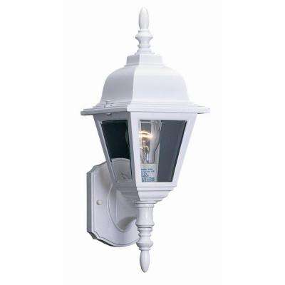 Maple Street White Outdoor Wall-Mount Uplight