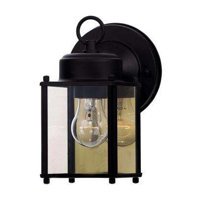 Holger 1-Light Black Outdoor Wall Mount Lantern