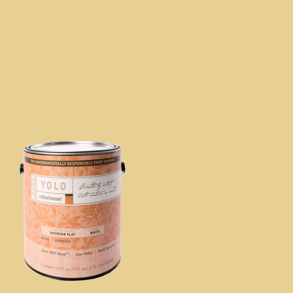 YOLO Colorhouse 1-gal. Beeswax .02 Flat Interior Paint-DISCONTINUED