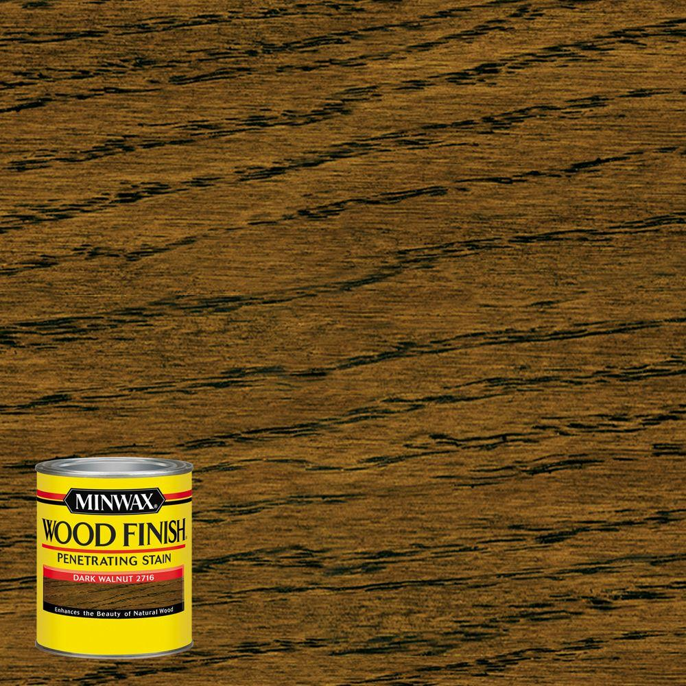 minwax 8 oz wood finish dark walnut oil based interior. Black Bedroom Furniture Sets. Home Design Ideas