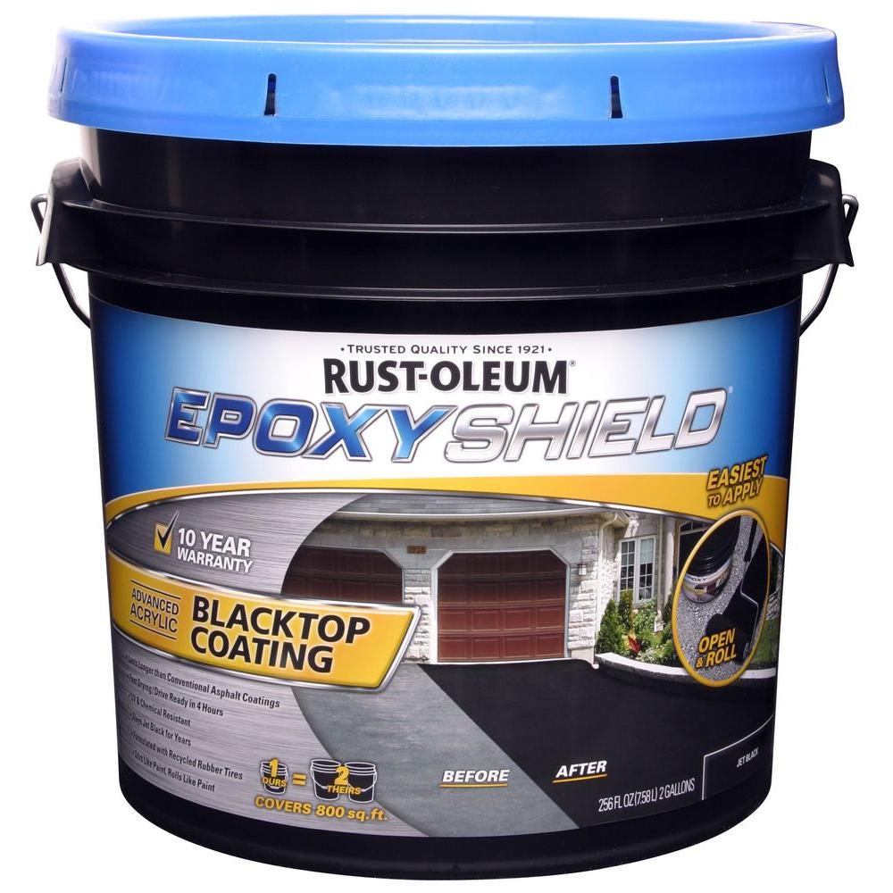 Asphalt Асфальт Home: Rust-Oleum EpoxyShield 2 Gal. Blacktop Coating Resurfacer