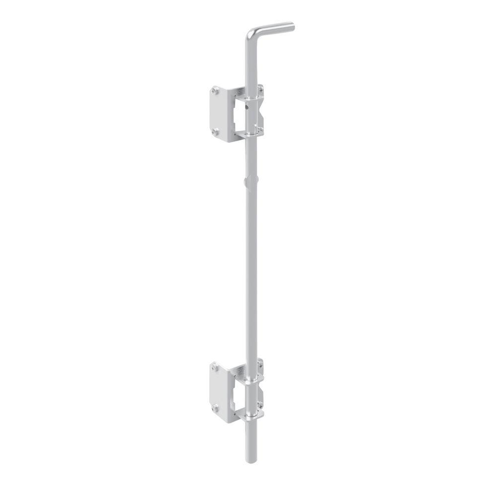 24 in. White Metal Heavy Duty Fence Drop Rod