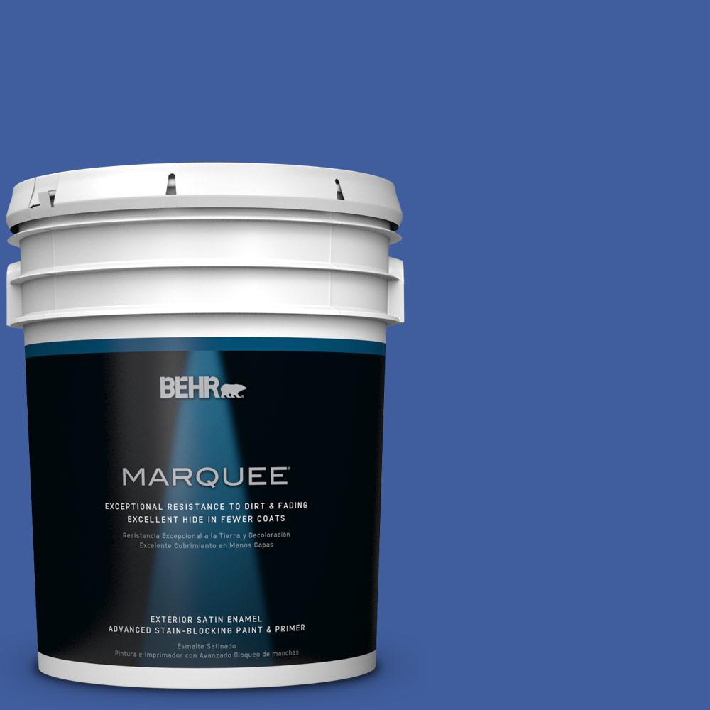 5 gal. #BIC-21 Blue Dahlia Satin Enamel Exterior Paint