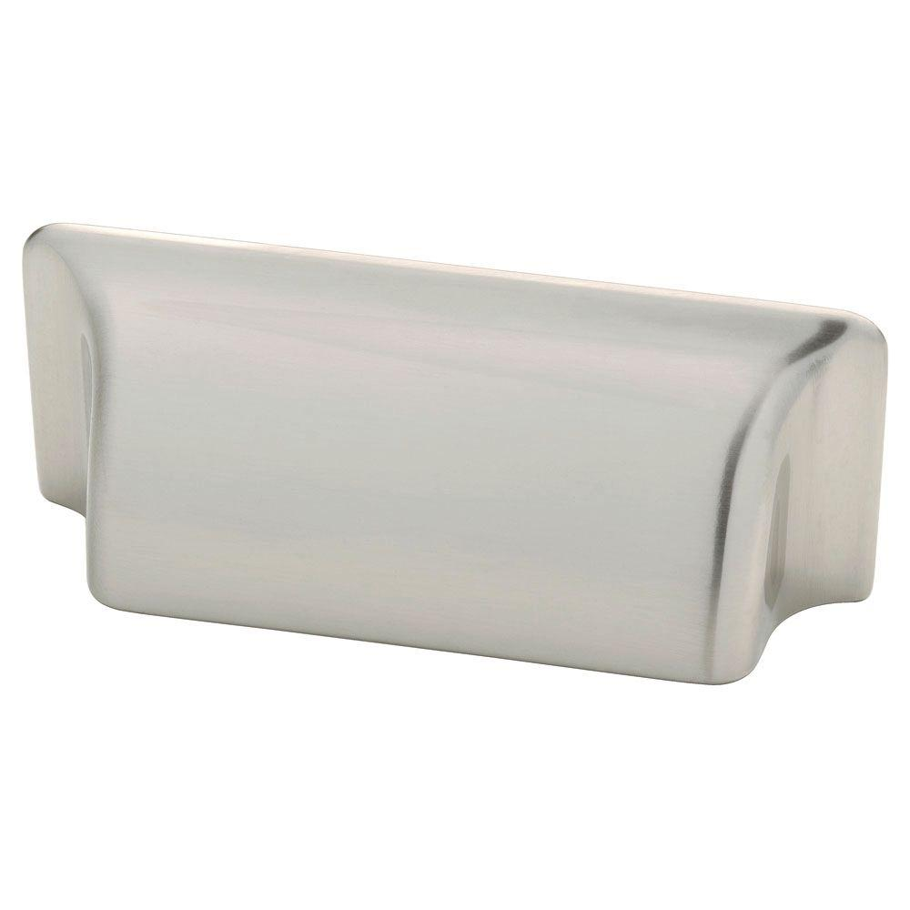 Liberty 3 in. (76mm) Center-to-Center Satin Nickel Rectangular Cup Drawer Pull