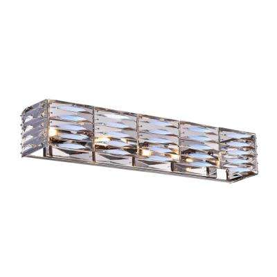 Squill 4-Light Bright Nickel Sconce