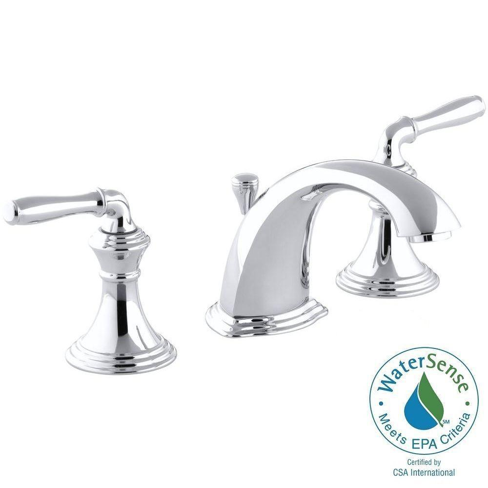 KOHLER Devonshire 8 in. Widespread 2-Handle Low-Arc Bathroom Faucet in Polished Chrome