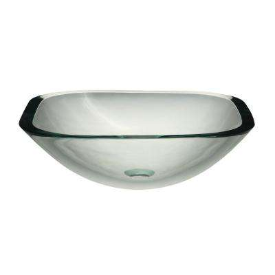 Translucence Glass Vessel Sink in Transparent Crystal