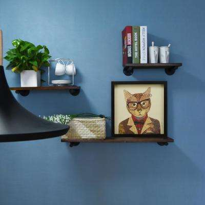 "17 in. x 17 in. ""Funky Cat 2"" Dimensional Collage Framed Graphic Art Under Glass Wall Art"