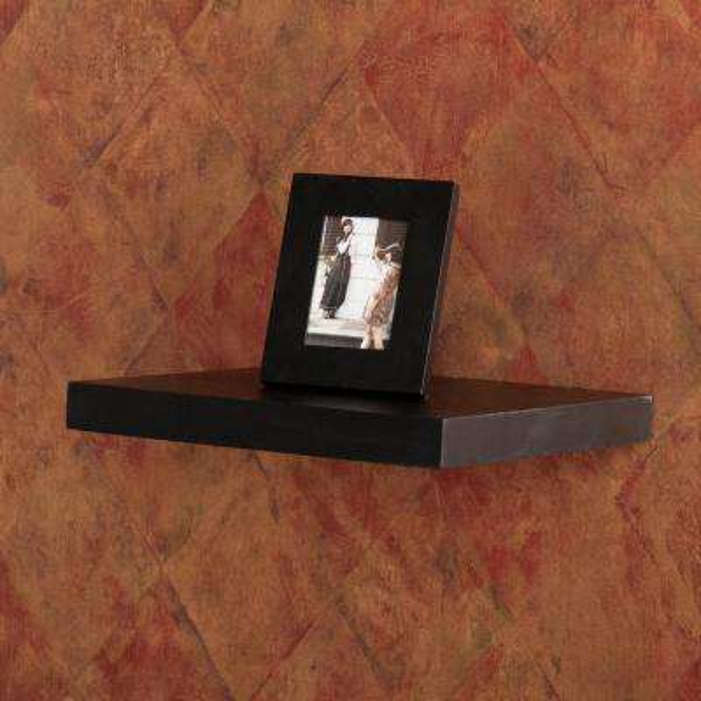 10 in. Aspen Black Floating Shelf (Price Varies by Length)